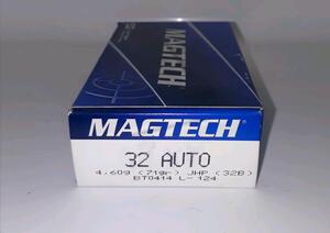 Balas Magtech C.32Auto / 7,65 Brow 71gr Jhp (32b)