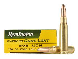 Balas Remington C.308Win 180gr Sp Core Lokt R308w2