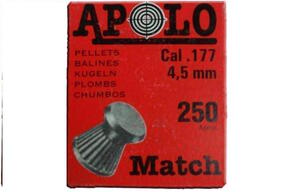 Balines Apolo caja carton MATCH punta plana 4.5 X 250