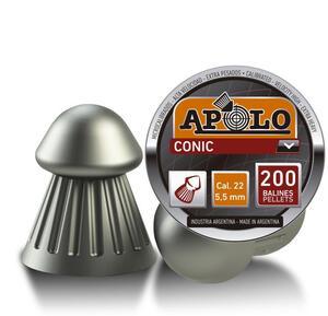 Balines Apolo Conic caja plastica punta conica 5.5mm X 250 unidades 11003