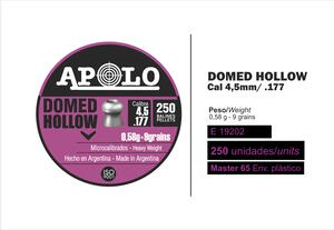 Balines Apolo Domed Hollow Point lata cal.4.5mm x 250 unidades 19202