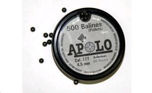 Balines Apolo Esfericos caja plastica  cal.4.5mm x 500 unidades  14002