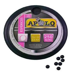 Balines Apolo Esfericos caja plastica  cal. 5.5mm X 250 unidades 14502