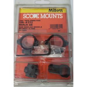 """Base Millet 2 piezas c/anillas de 1"""" medio p/Marlin 336"""