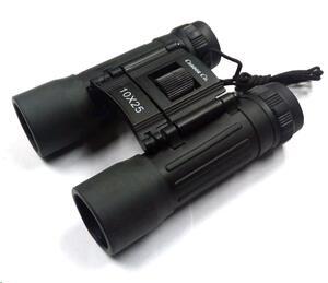 Binocular Cannon 10x25 plegable negro c/estuche
