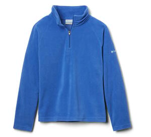Buzo Micropolar Columbia Juvenil Glacial Fleece Half Zip color Azul cielo