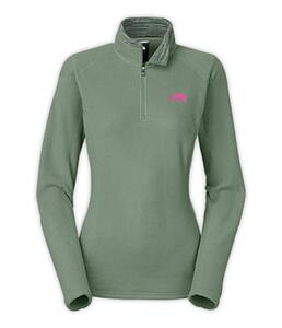 Buzo TNF d. GLACIER 1/4- ZIP laurel wreath green