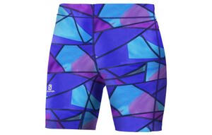 Calza Salomon d. Graphic Short Tight colorblock phlox violet