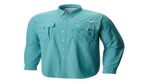 Camisa Columbia h. BAHAMA II l/s jade lima