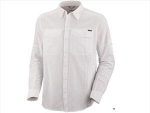Camisa Columbia h. Silver Ridge white l/s