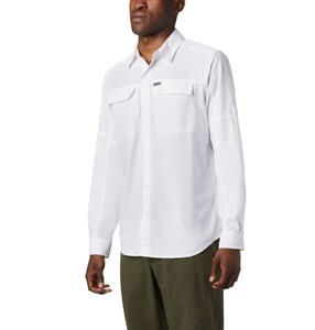 Camisa Columbia hombre Silver Ridge 2.0 Omni Shade Manga larga color Blanco