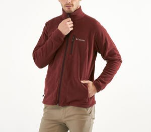 Campera Polar Columbia hombre Fast II FZ  color bordo