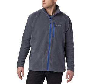 Campera Polar Columbia hombre Fast II FZ  color gris azul