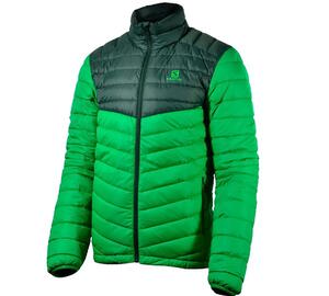 Campera Salomon hombre HALO HOODED II real green color verde