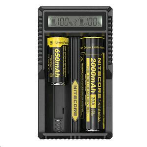 Cargador Nitecore de baterias UM20 usb 2 slot de carga y display de estado