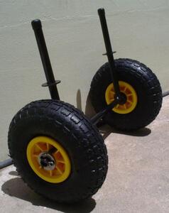 Carrito MT trasnportador de kayak c/ goma de caucho