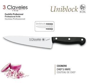 Cuchillo 3 Claveles acero inoxidable 15 Cm Uniblock cocinero
