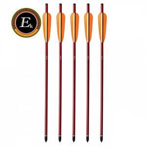 Flecha Archery Research aluminio Rojo blister  X 6 unidades 6.5