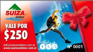 Gift Card Suiza Outdoor X $ 250