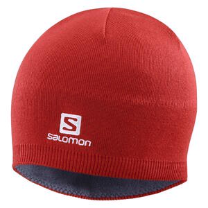 Gorro Salomon Beanie color Rojo Cereza