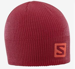 Gorro Salomon Logo Beanie color Rojo Cereza