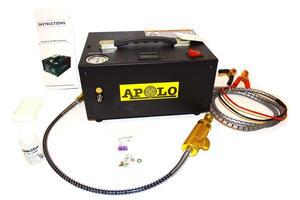 Inflador  Compresor Apolo 12 volts para PCP 300bar 4500 psi