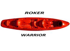 Kayak ROCKER WARRIOR rojo c/ remo