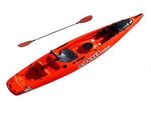 Kayak ROCKER WAVE rojo c/ remo