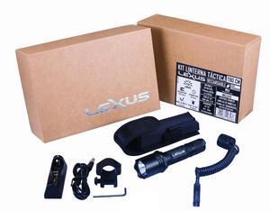 Kit Linterna tactica LEXUS T90-CM led cree XM-L2 U2 1300 lumens recargable + accesorios