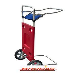 Mesa Broksol con carro de aluminio playera Rojo MES-01RO