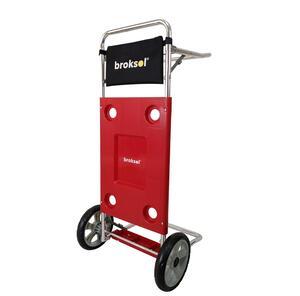 Mesa / Carro Broksol de aluminio playera Rojo MES-01RO