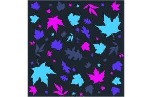Pañuelo multiuso Salomon NECK TUBE  LEAVES black/ mystic purple