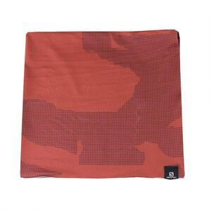 Pañuelo multiuso Salomon NECKTUBE Camo color Rojo detalles cuadriculados