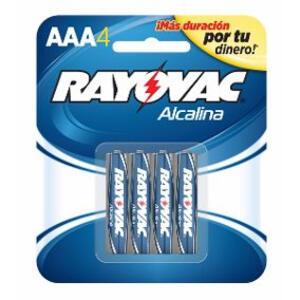 Pila Alcalina Rayovac (AAA) Blister X 4 R8244