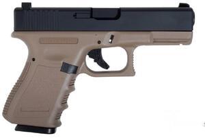 Pistola Aire Comprimido Saigo C.6MM  G23 BLOWBACK POLIMERO (brown) GG