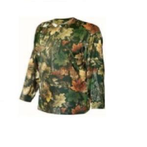 Remera Forest hombre Camuflada 3D manga larga camo hojas secas 83360