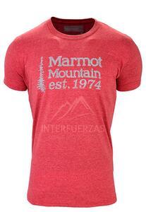 Remera Marmot h. 74 Tee SS red heather