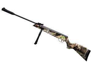 Rifle aire comprimido Fox Compact SR1000S Nitro Piston calibre 5.5mm Camuflado + bipode
