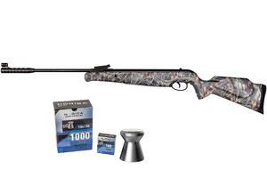 Rifle Norica Aire Comprimido Spider Camo calibre 4.5 MM 1100 Fps + Balines Norica Match 4.5 x 100