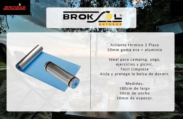 Aislante térmico Brogas de goma eva aluminio 1 plaza 10mm
