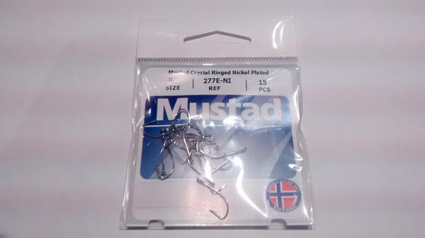 Anzuelo Mustad Nickel Plated 277f Nro.6 X 15 Un.