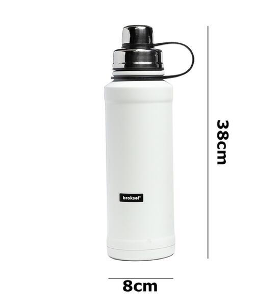 Botella de hidratacion  Broksol acero inoxidable 800ML Blanco