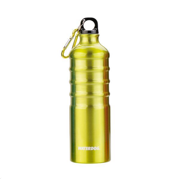 Botella Waterdog Aluminio 1000 cc verde limon c/mosquetón