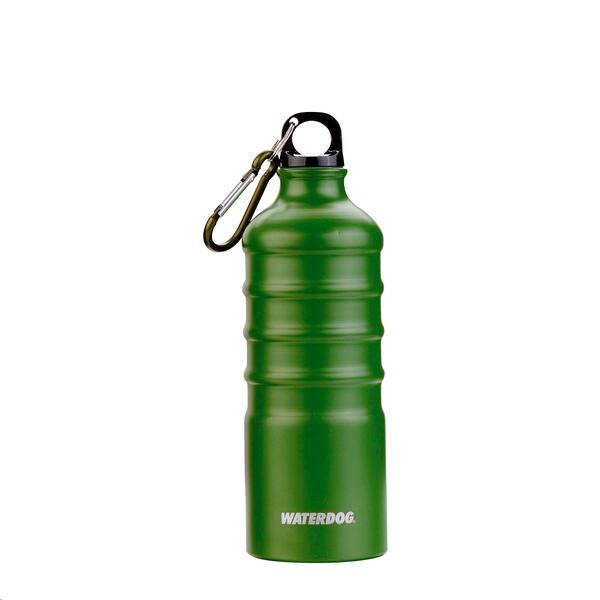 Botella Waterdog Aluminio 500 cc verde c/ mosqueton