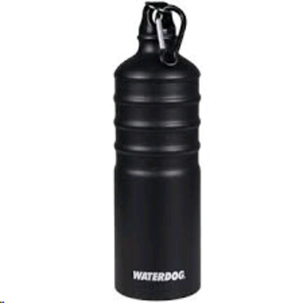 Botella Waterdog Aluminio mod. AB1Q050BK 500cc. negro/mosqueton