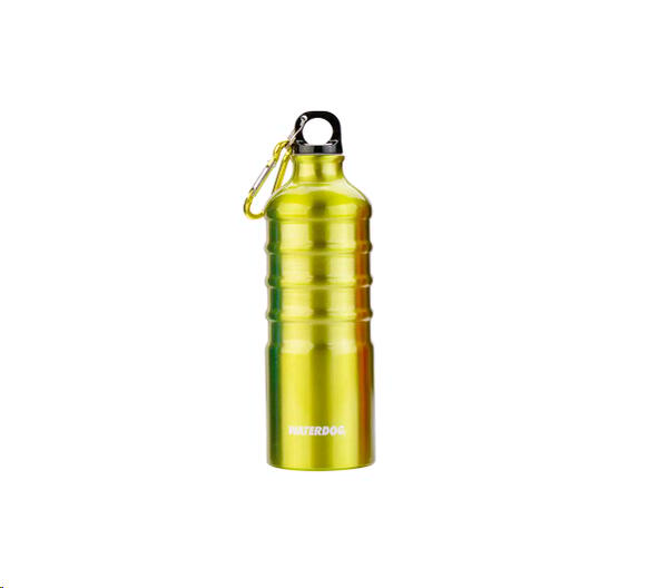 Botella Waterdog Aluminio mod. Ab1q075gy 750cc. verde limon mosqueton