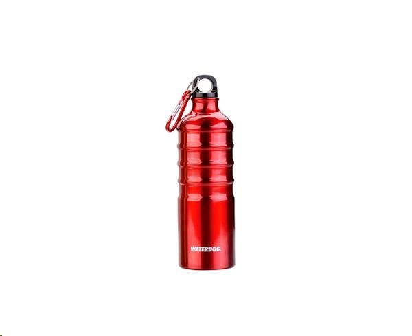 Botella Waterdog Aluminio mod. Ab1q075rd 750cc. rojo mosqueton
