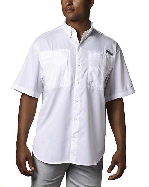 Camisa Columbia h. Tamiami II s/s white