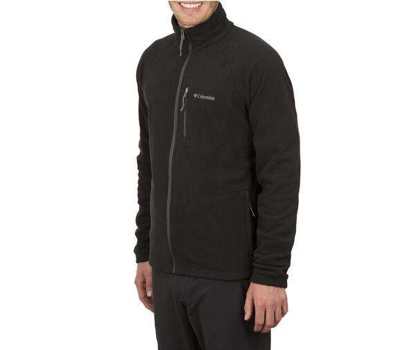 Campera Polar Columbia hombre Fast Trek II full zip Fleece color Negro