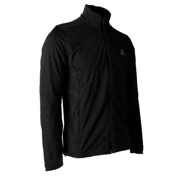 Campera Salomon hombre Agile Warm JKT color Negro (Oferta)